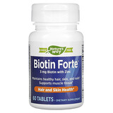 Enzymatic Therapy, Biotin Forte® 含鋅生物維生素,3 毫克,60 片裝