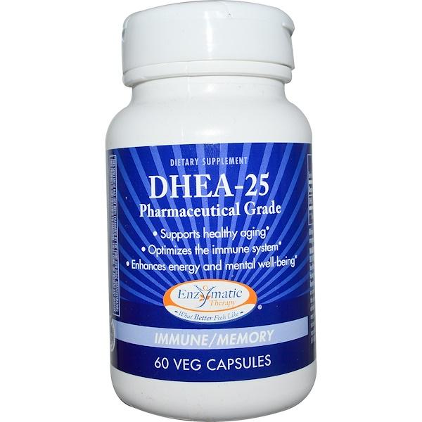 Enzymatic Therapy, DHEA-25,60粒素食膠囊
