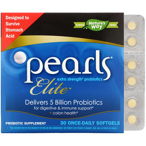 Pearls Elite, Extra Strength Probiotics, 30 Once-Daily Softgels