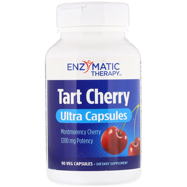 Enzymatic Therapy, Tart Cherry, Ultra Capsules, 1,200 mg, 90 Veg Capsules