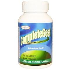 Enzymatic Therapy, CompleteGest, Mealtime Enzyme Formula, 180 Veggie Caps