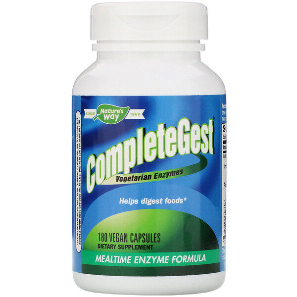 Nature's Way, CompleteGest, Mealtime Enzyme Formula, 180 Vegan Capsules