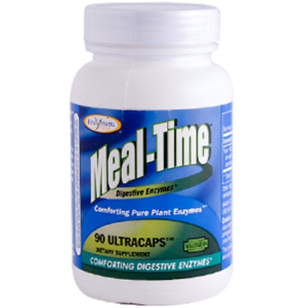 Enzymatic Therapy, Mega-Zyme Meal Time, Digestive Enzymes, 90 Ultracaps (Discontinued Item)