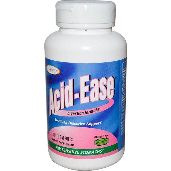 Enzymatic Therapy, Acid Ease, Digestion Formula, 180 Veggie Caps