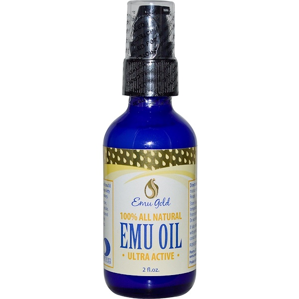 Emu Gold, Emu Oil, 100% All Natural, Ultra Active, 2 fl oz (Discontinued Item)