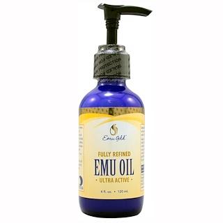 Emu Gold, Emu Oil, Fully Refined, Ultra Active, 4 fl oz (120 ml)