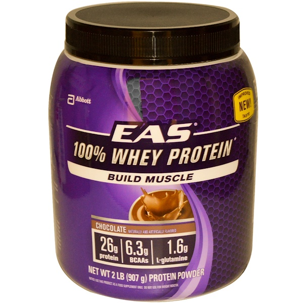 EAS, 100% Whey Protein Powder, Chocolate, 2 lbs (907 g) (Discontinued Item)