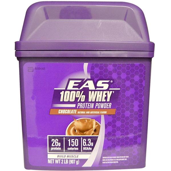 EAS, 100% Whey Protein Protein, Chocolate, 2 lb (907 g)