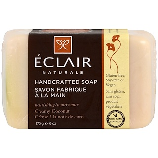 Eclair Naturals, Handcrafted Soap, Creamy Coconut, 6 oz (170 g)
