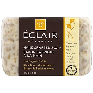 Eclair Naturals, Handcrafted Soap, Shea Butter & Oatmeal, 6 oz (170 g)
