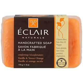 Eclair Naturals, Handcrafted Soap, Vanilla & Sweet Orange, 6 oz (170 g)