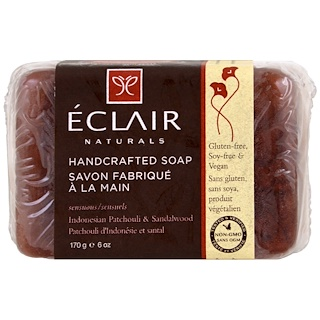 Eclair Naturals, Handcrafted Soap, Indonesian Patchouli & Sandalwood, 6 oz (170 g)