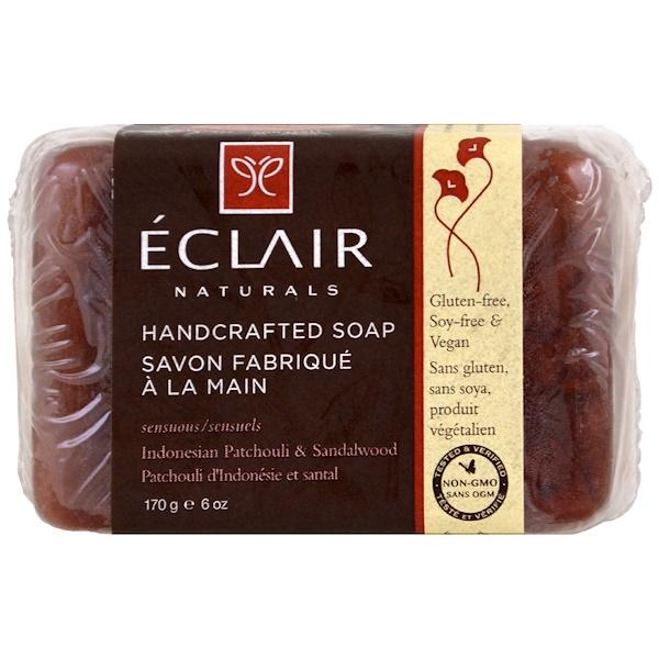 Eclair Naturals, 手作りソープ、インドネシア産パチョリ&サンダルウッド、6オンス (170 g) (Discontinued Item)