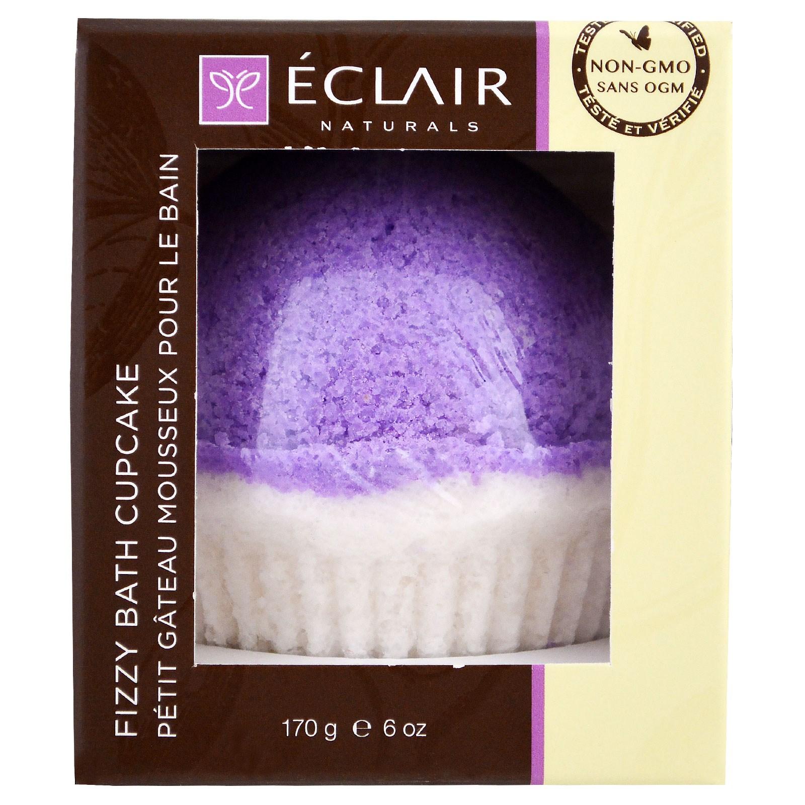 Eclair Naturals, Кекс Fizzy Bath, лаванда и ваниль, 6 унций (170 г)