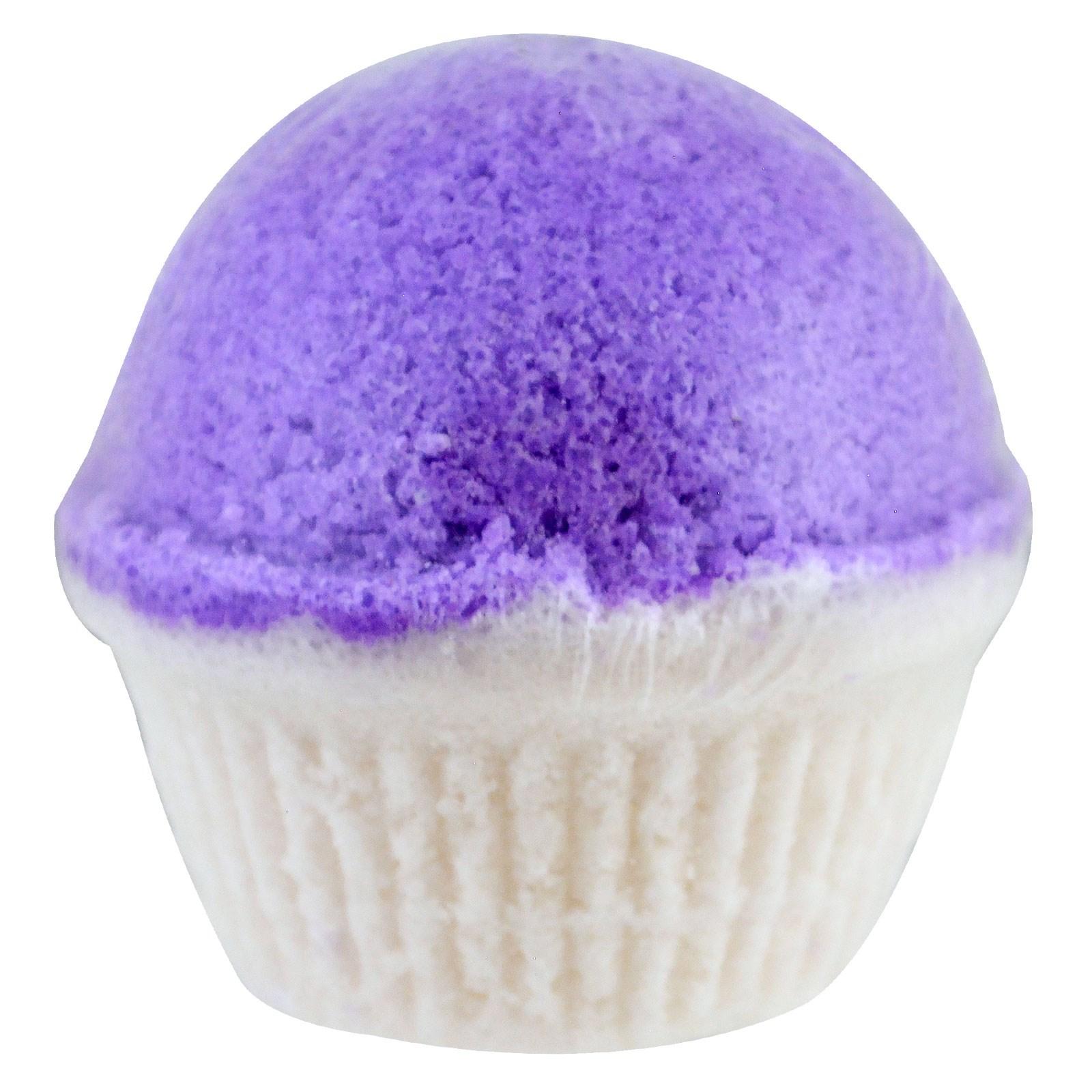 Eclair Naturals Fizzy Bath Cupcake Lavender Vanilla 6 Oz 170 G Aromatherapy Sugar Scrub Click To Zoom