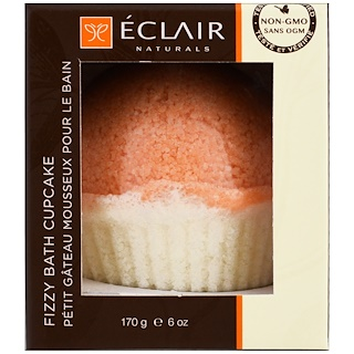 Eclair Naturals, Fizzy Bath Cupcake, Grapefruit Orange, 6 oz (170 g)