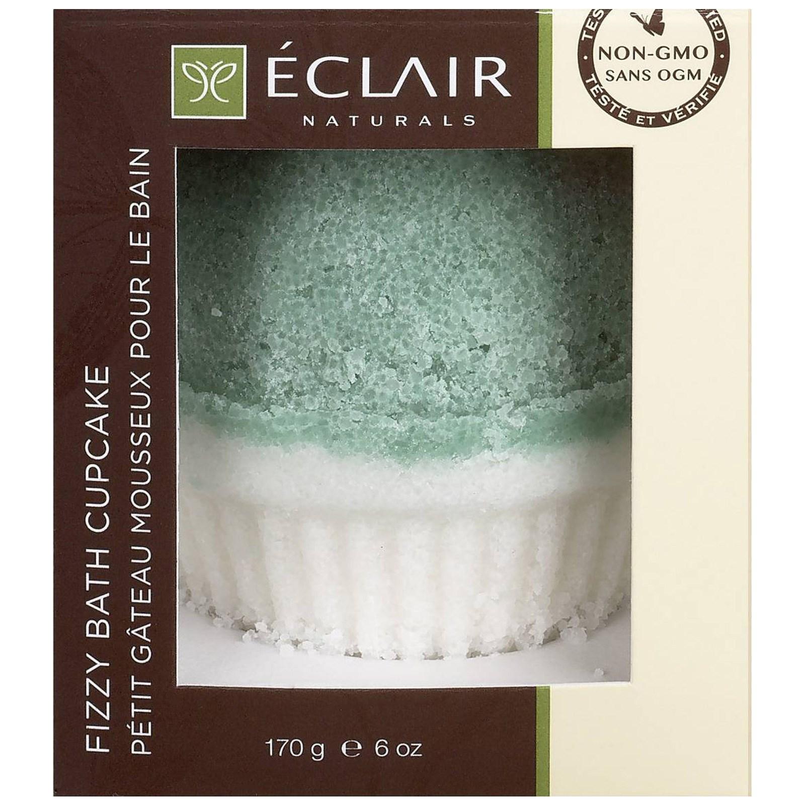 Eclair Naturals, Кекс Fizzy Bath, эвкалипт, розмарин и ваниль, 6 унций (170 г)