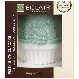 Eclair Naturals, Fizzy Bath Cupcake, Eucalyptus, Rosemary & Mint, 6 oz (170 g)