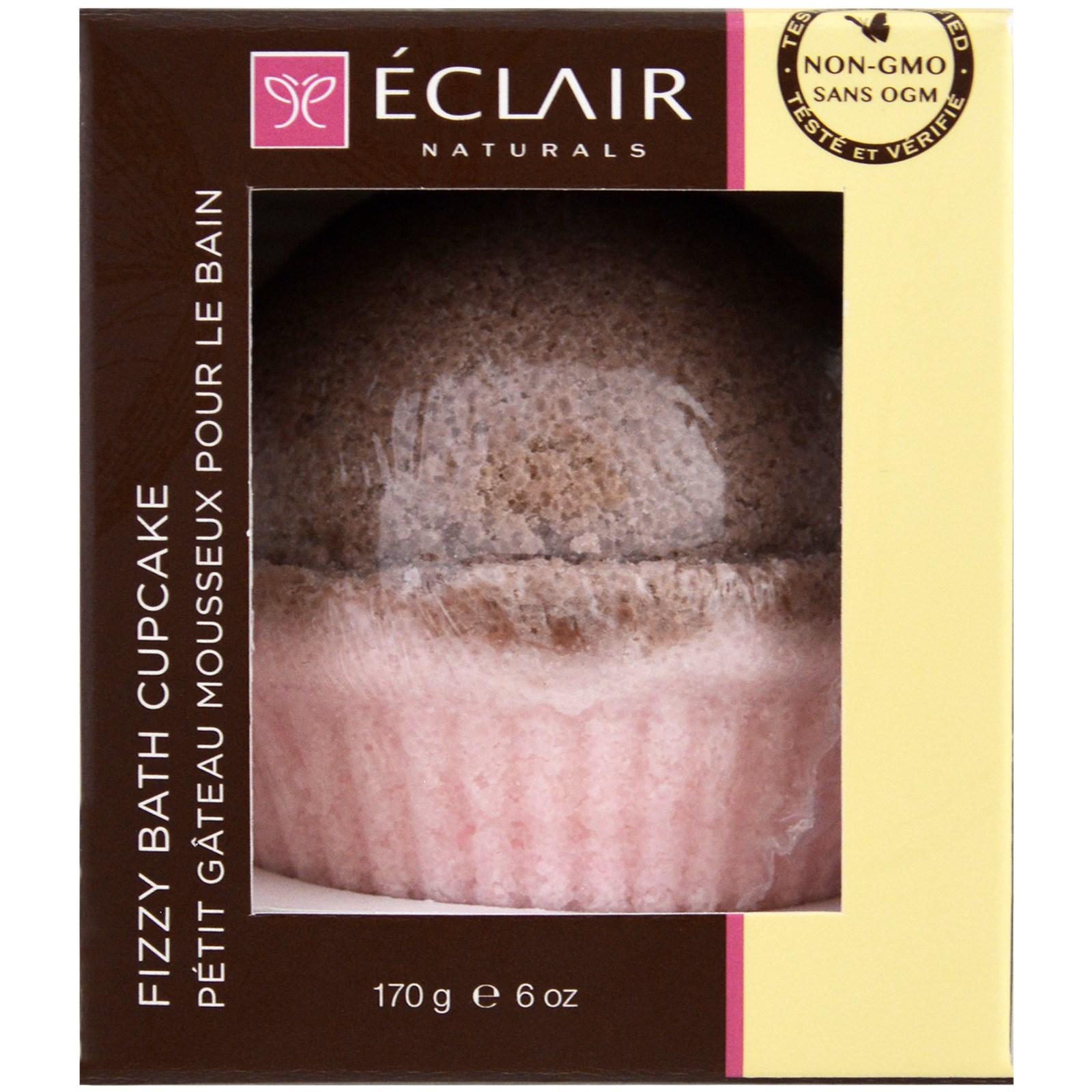 Eclair Naturals, Шипучий капкейк для ванны, Роза и сандал, 6 унций (170 г)