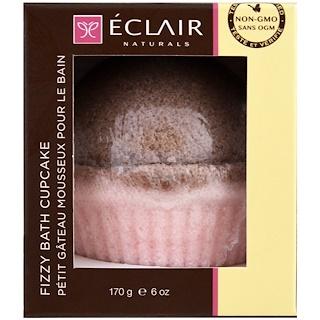 Eclair Naturals, Fizzy Bath Cupcake, Rose Sandalwood, 6 oz (170 g)