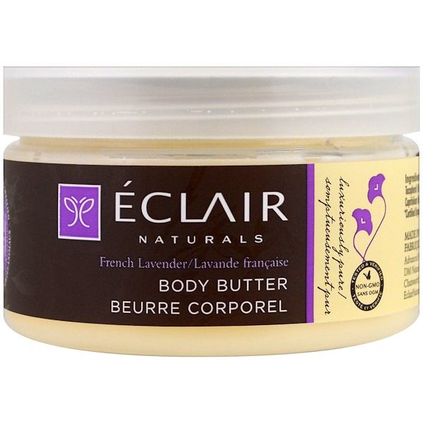 Eclair Naturals, ボディバター、フレンチラベンダー、4オンス (113 g) (Discontinued Item)