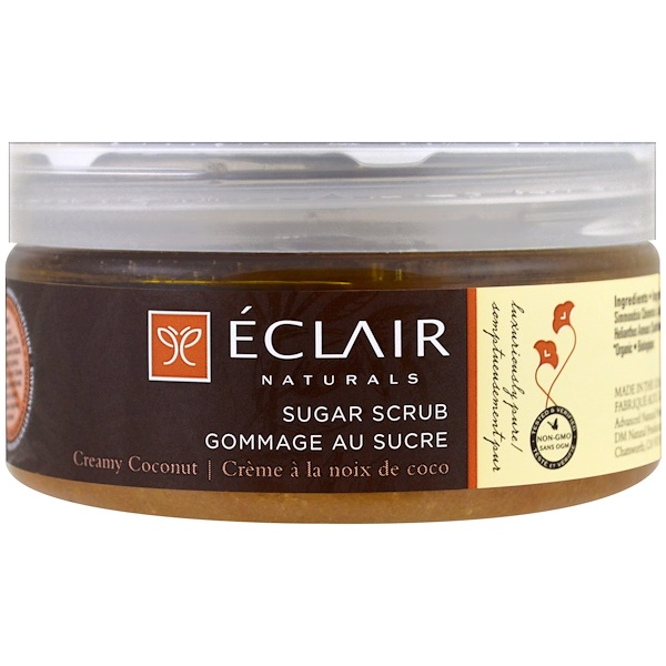 Eclair Naturals, Exfoliant au sucre, Noix de coco crémeuse, 9 oz (255 g) (Discontinued Item)