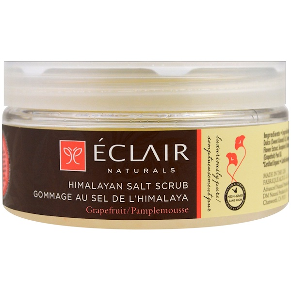 Eclair Naturals, ヒマラヤ産ソルトスクラブ, グレープフルーツ, 9 oz (255 g) (Discontinued Item)