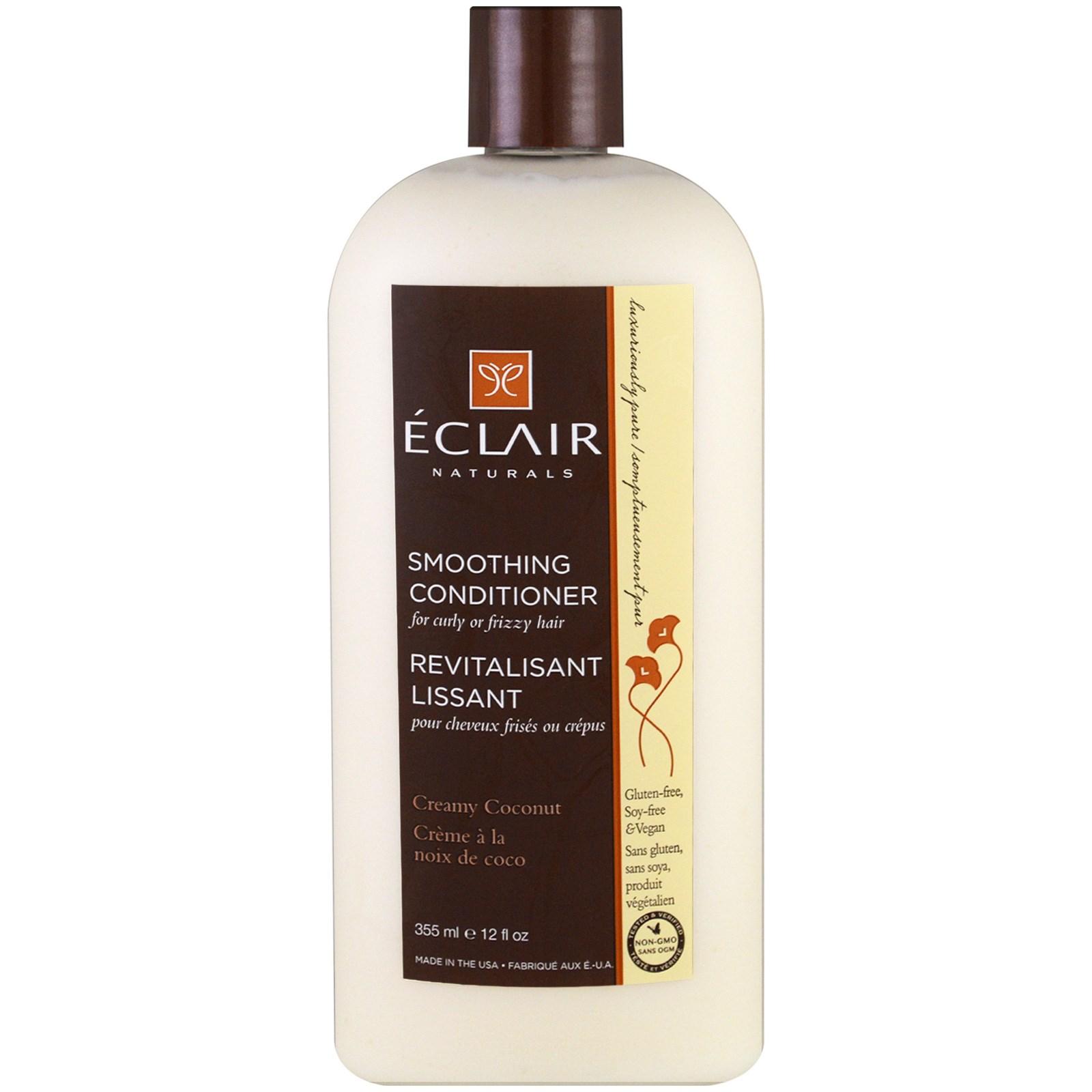 Eclair Naturals, Разглаживающий кондиционер, Кремовый кокос, 12 унций (355 мл)