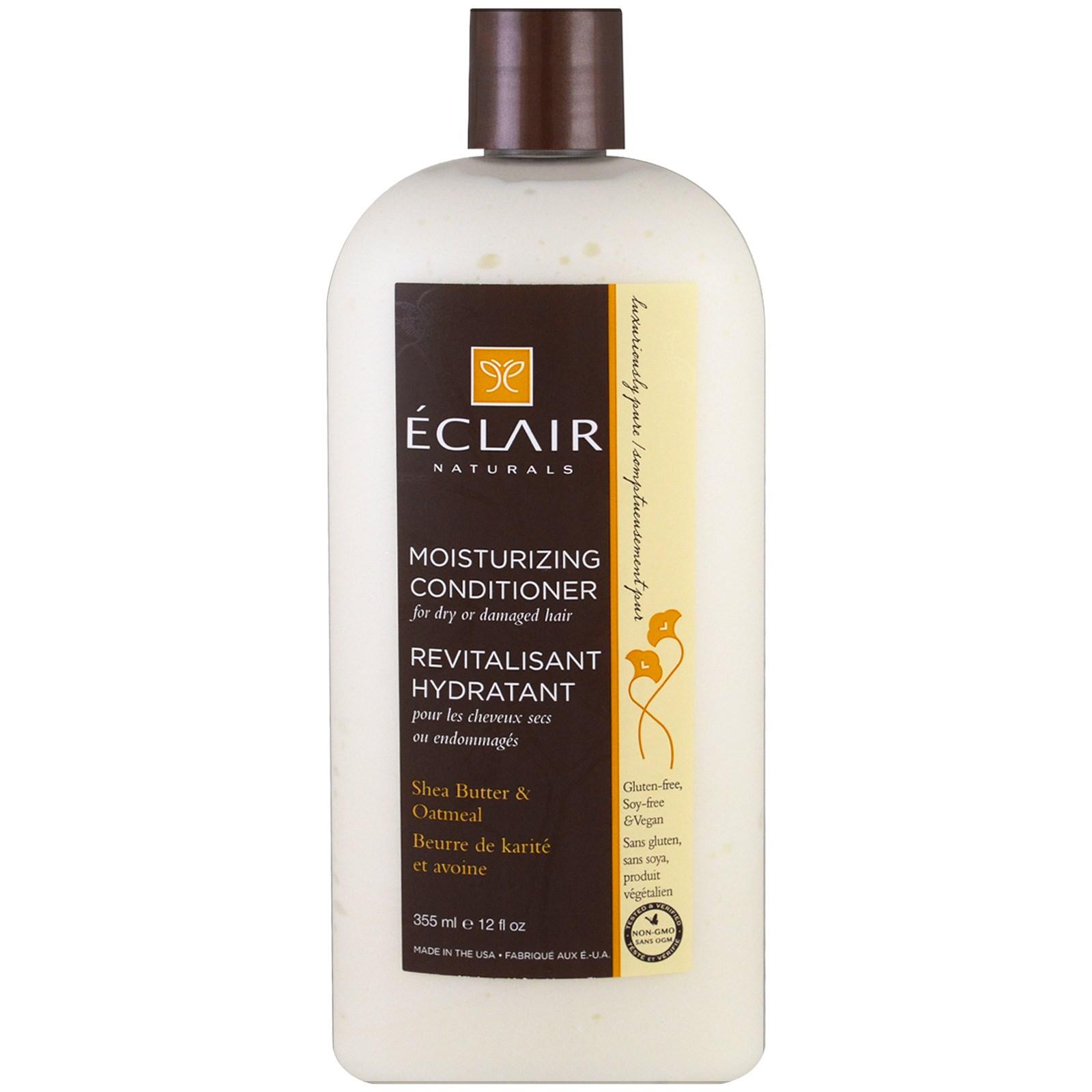 Eclair Naturals, Увлажняющий кондиционер, Масло ши и овес, 12 унции (355 мл)