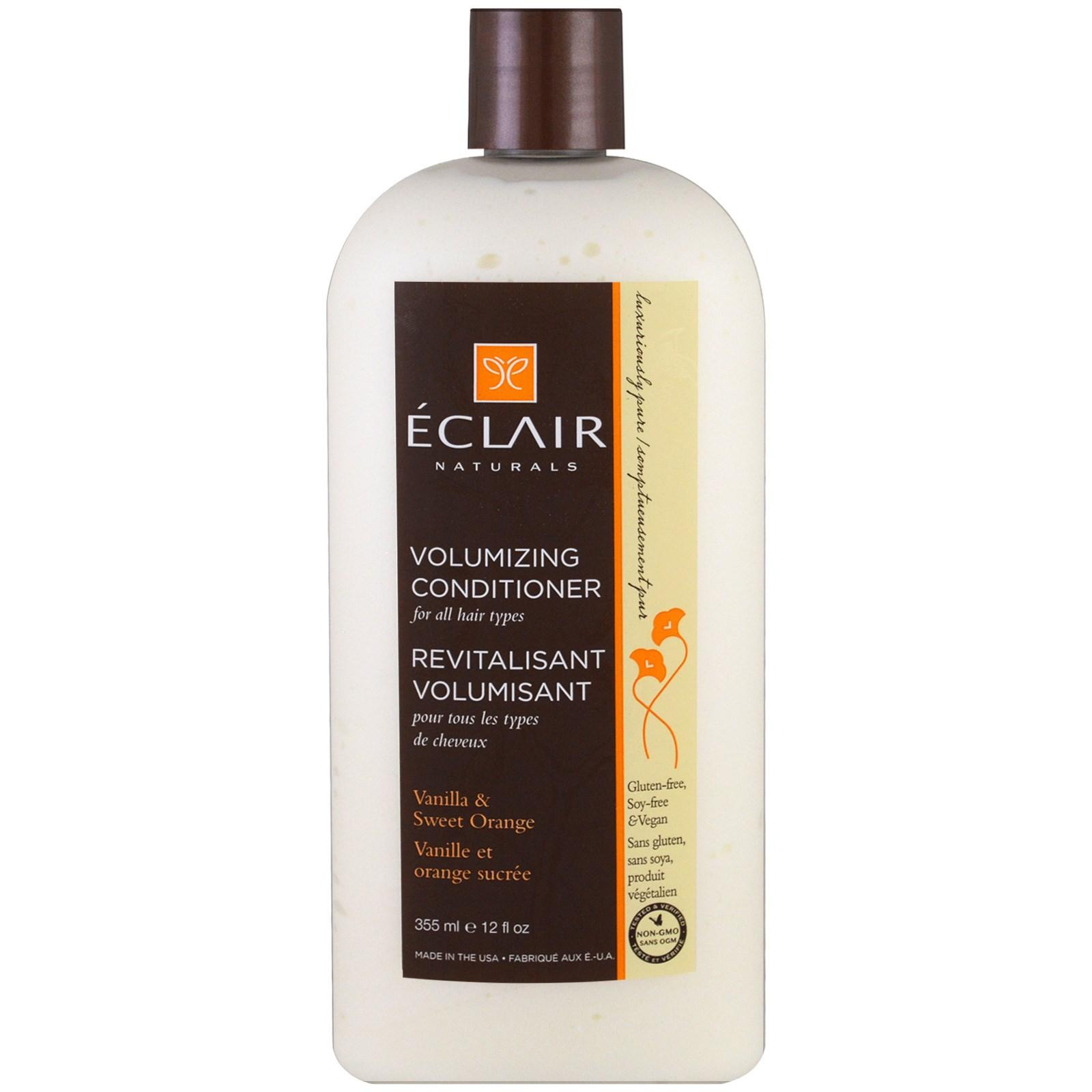 Eclair Naturals, Придающий объем кондиционер, Ваниль и сладкий апельсин, 12 унций (355 мл)