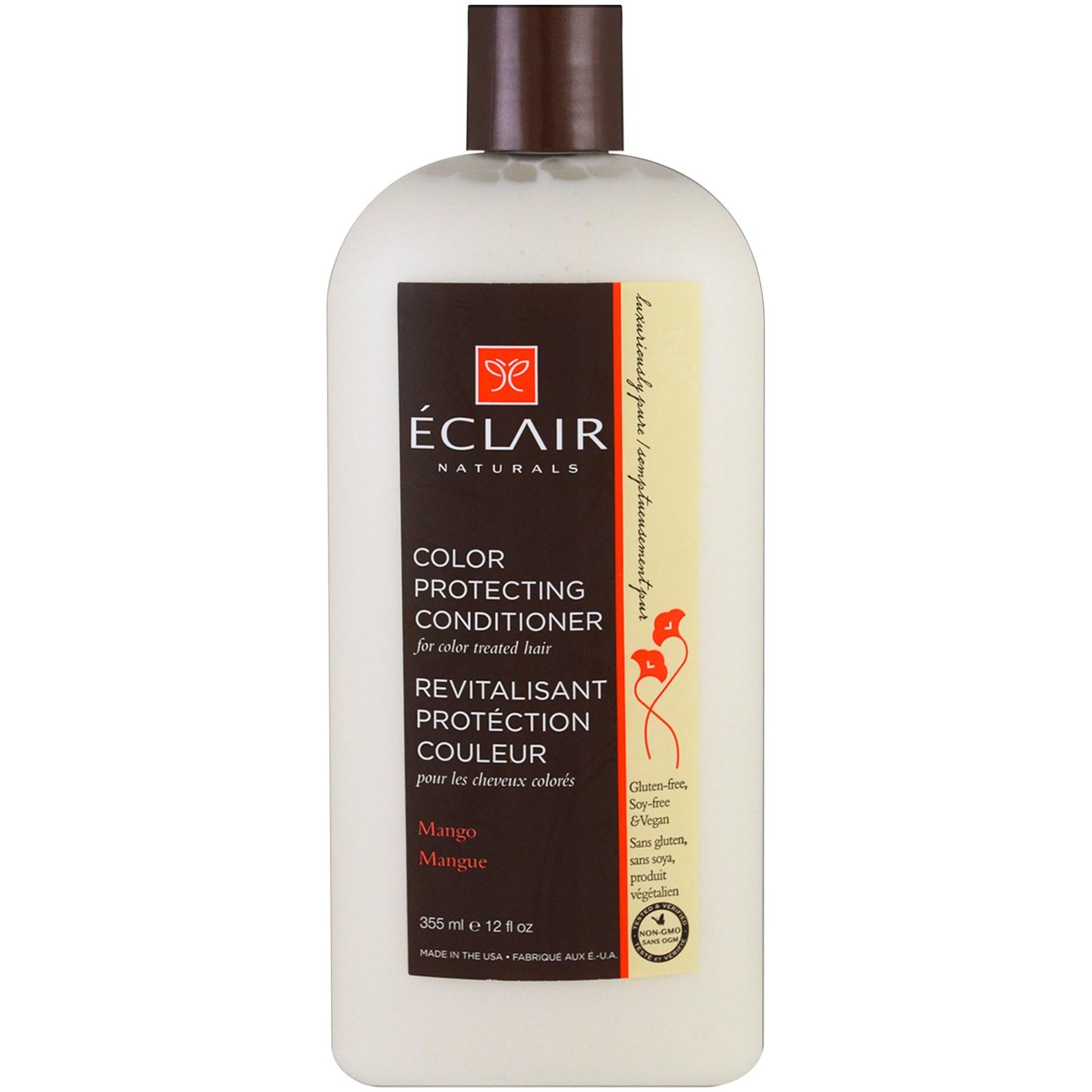 Eclair Naturals, Кондиционер для укрепления цвета, манго, 12 жидких унций (355 мл)
