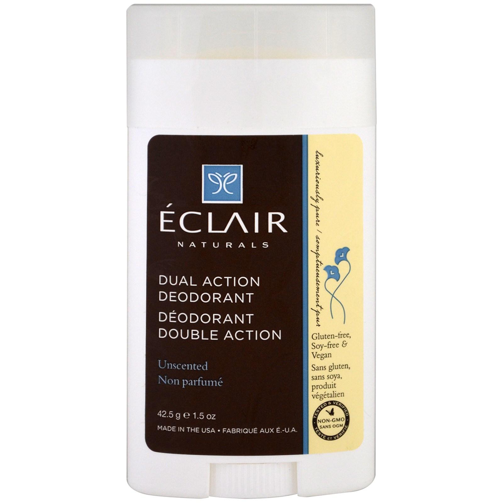 Eclair Naturals, Дезодорант двойного действия, без запаха, 1,5 унц. (42,5 г)