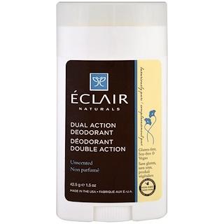 Eclair Naturals, Desodorante de doble acción, sin perfume, 1,5 oz (42,5 g)