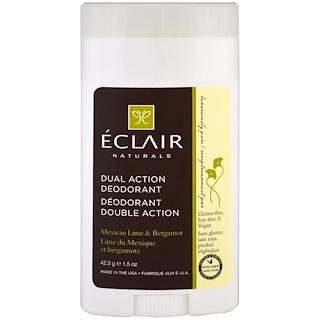 Eclair Naturals, Dual Action Deodorant, Mexican Lime & Bergamot, 1.5 oz (42.5 g)