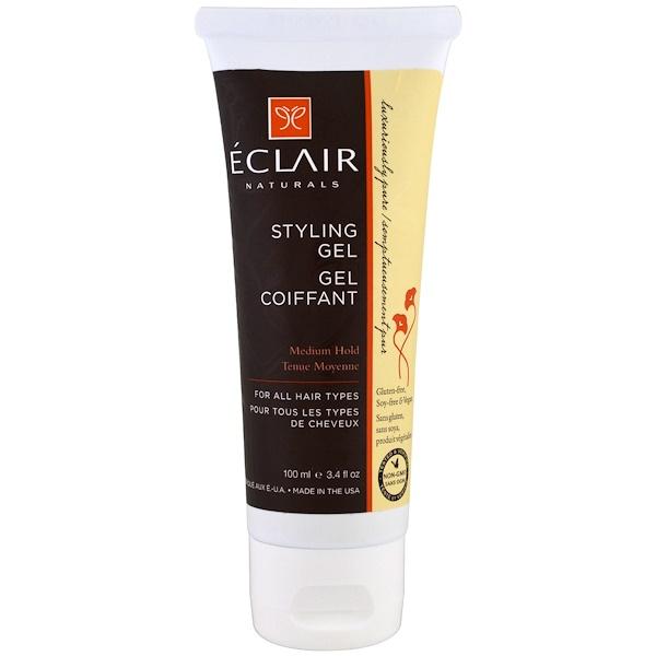 Eclair Naturals, 造型啫喱,中度,3、4 液體盎司(100 毫升)