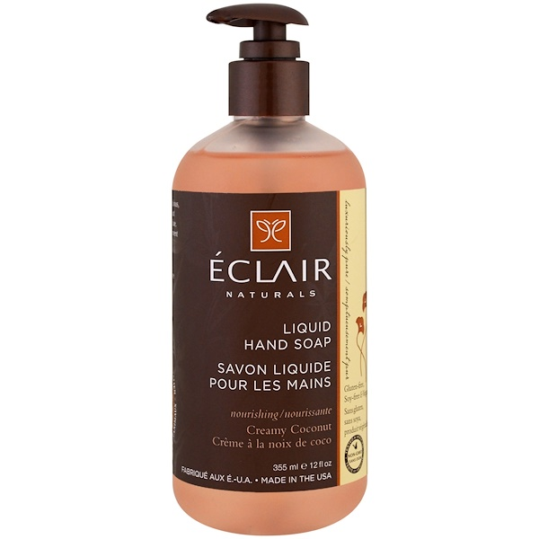 Eclair Naturals, 洗手液,椰奶味,12 液體盎司(355 毫升)