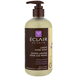 Eclair Naturals, Liquid Hand Soap, French Lavender, 12 fl oz (355 ml)