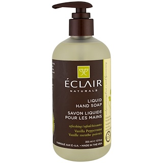 Eclair Naturals, Liquid Hand Soap, Vanilla Peppermint, 12 fl oz (355 ml)