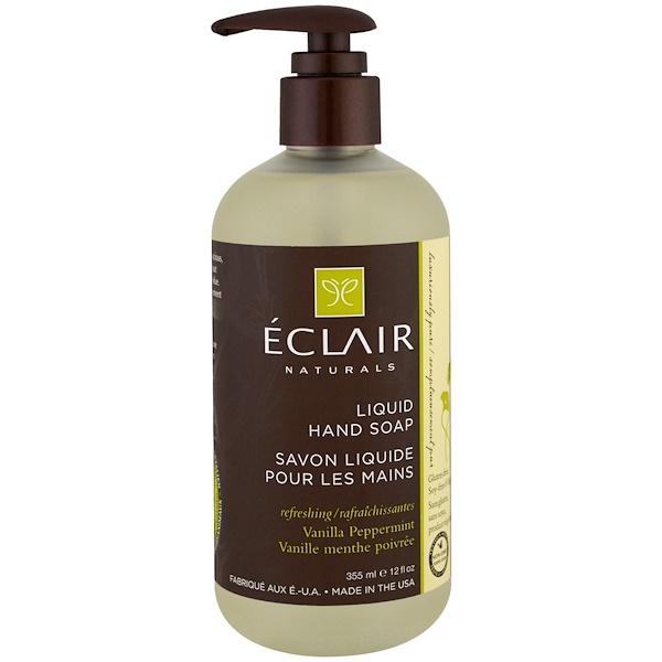 Eclair Naturals, 液體洗手皂,香草薄荷味,12 液體盎司(355 毫升)