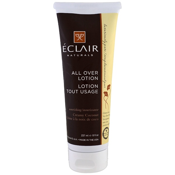 Eclair Naturals, All Over Lotion, Creamy Coconut, 8 fl oz (237 ml) (Discontinued Item)
