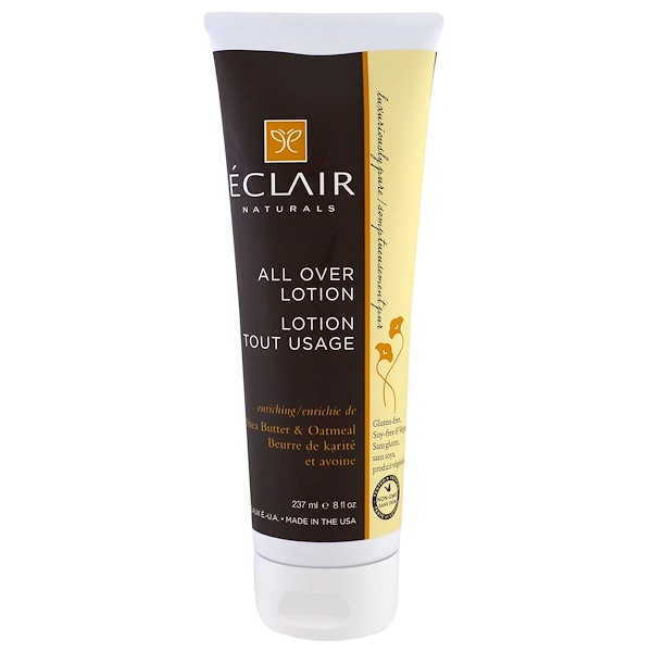 Eclair Naturals, All Over Lotion, Enriching, Shea Butter & Oatmeal, 8 fl oz (237 ml) (Discontinued Item)