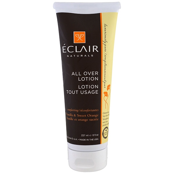 Eclair Naturals, All Over Lotion, Vanilla & Sweet Orange, 8 fl oz (237 ml) (Discontinued Item)