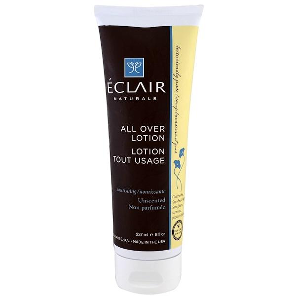 Eclair Naturals, 全身潤膚乳,滋養。無香,8 液體盎司(237 毫升)
