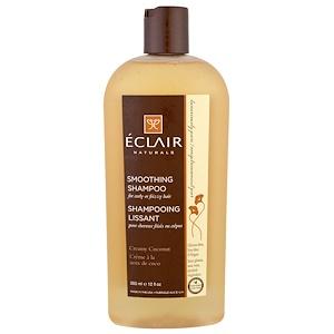Eclair Naturals, Успокаивающий шампунь, мягкий кокос, 12 жидких унций (355 мл)
