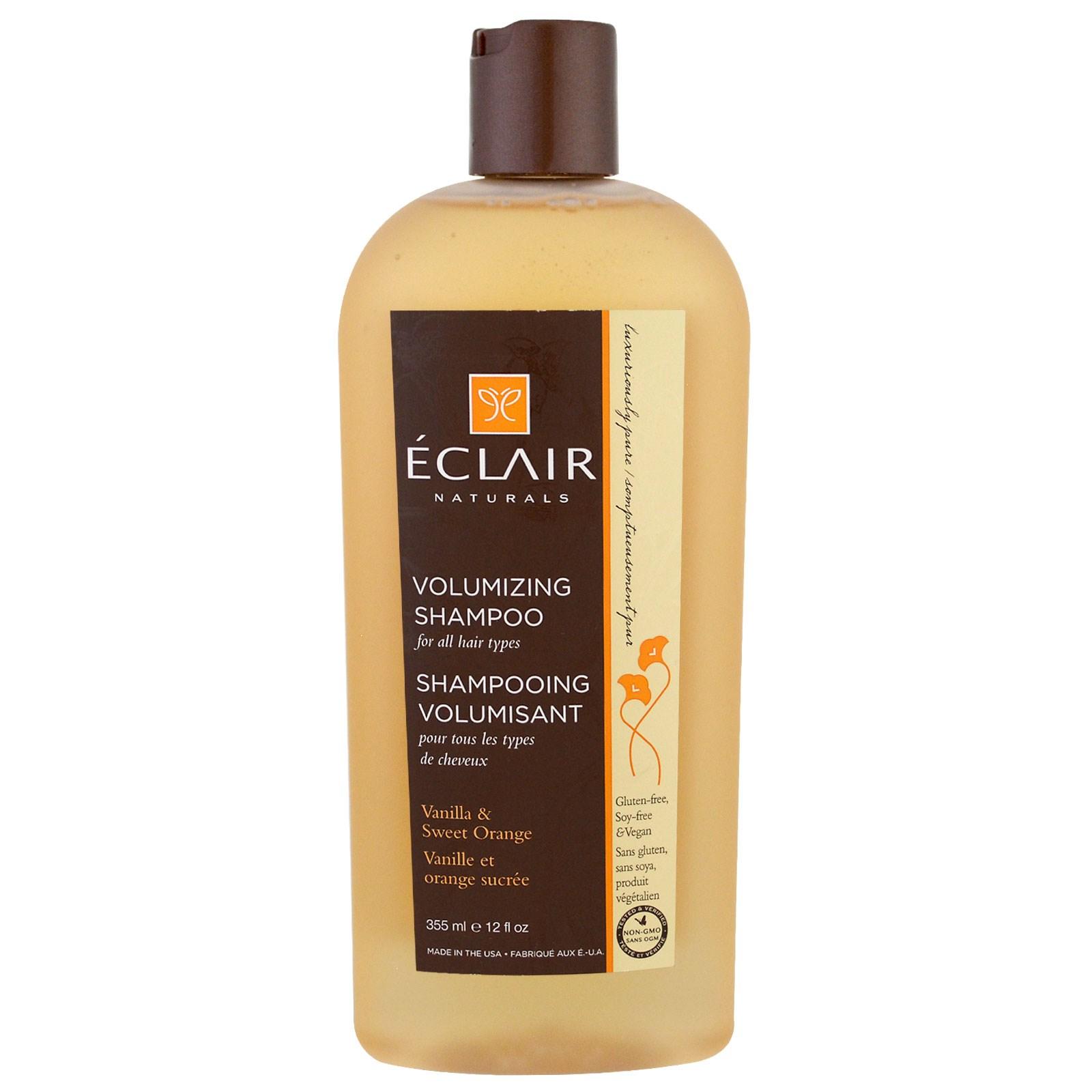 Eclair Naturals, Придающий объем шампунь, ваниль и сладкий апельсин, 12 жидких унций (355 мл)