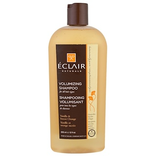 Eclair Naturals, Volumizing Shampoo, Vanilla & Sweet Orange, 12 fl oz (355 ml)