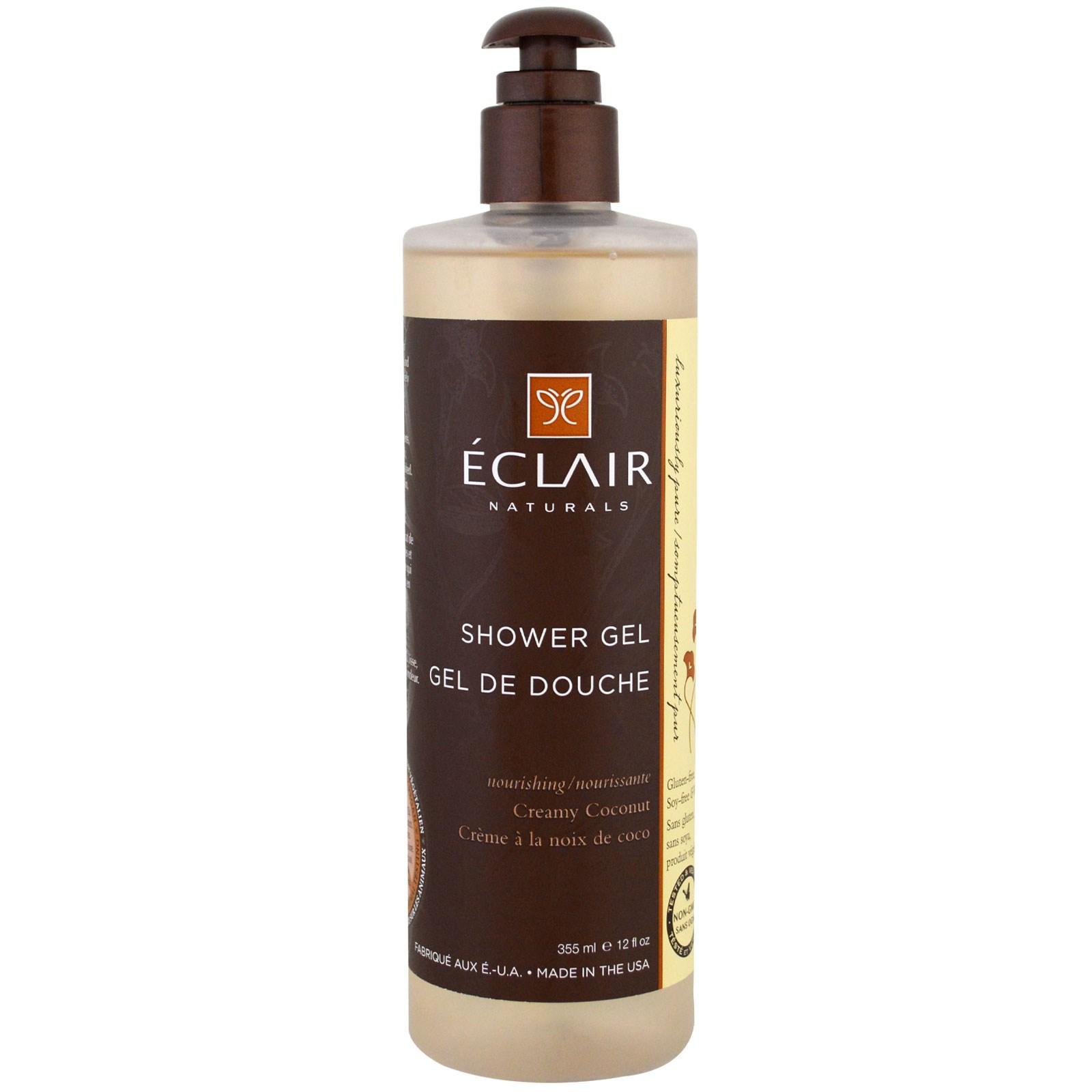 Eclair Naturals, Гель для душа, мягкий кокос, 12 жидких унций (355 мл)