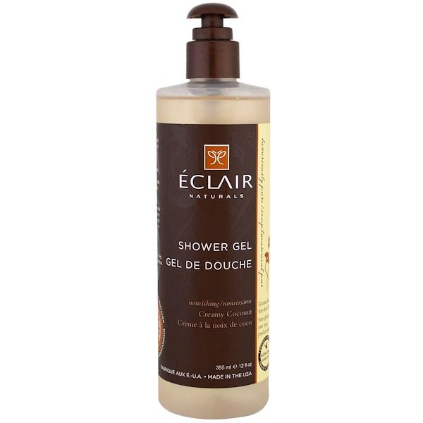 Eclair Naturals, 沐浴露,椰奶,12液量盎司(355毫升)