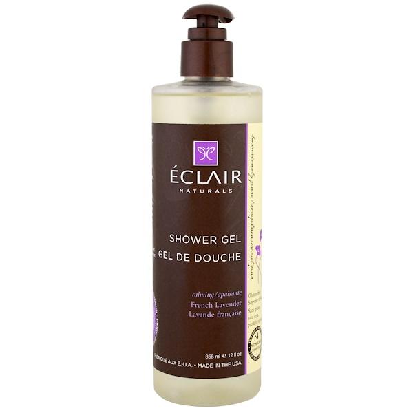 Eclair Naturals, 沐浴露,舒緩,法國薰衣草,12液量盎司(355毫升)