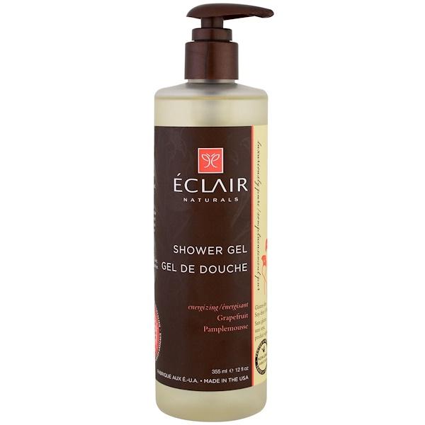 Eclair Naturals, 沐浴露,活力,葡萄柚,12液量盎司(355毫升)